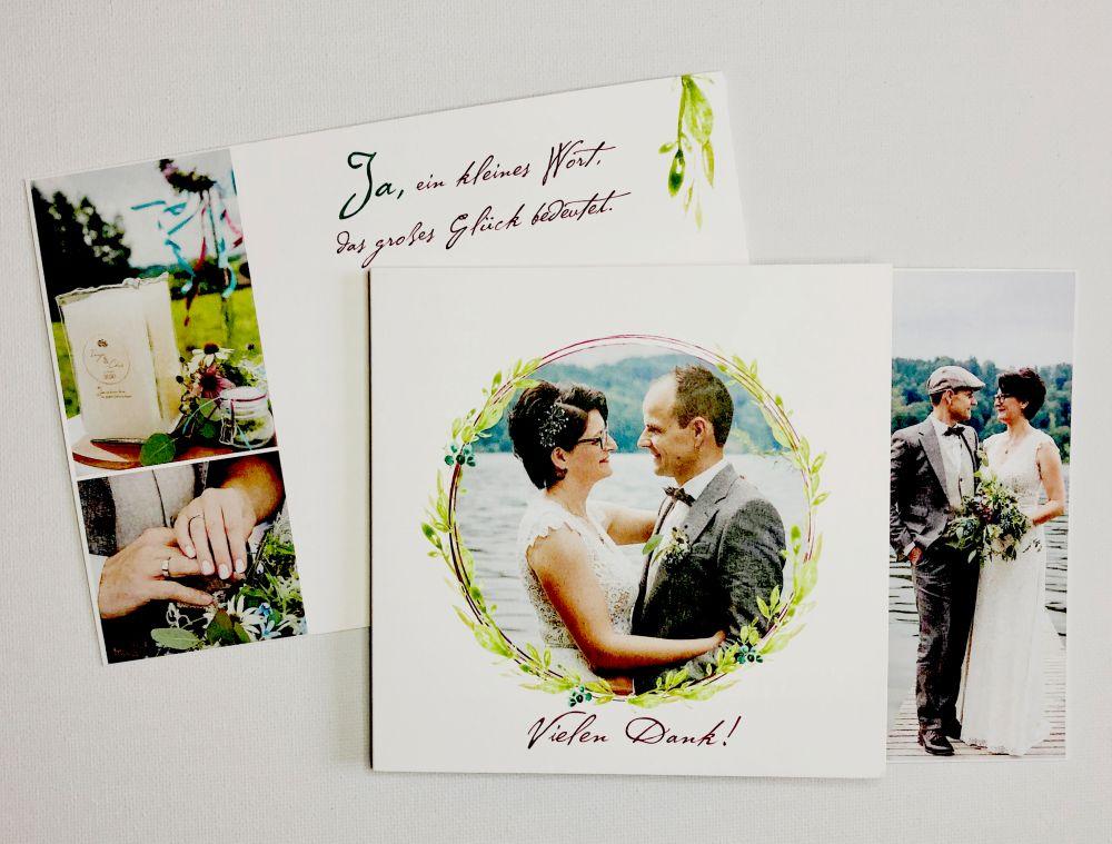 Hochzeitskarte Danke